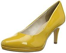 Tamaris 1-1-22444-24, Zapatos de Tacón para Mujer, Amarillo (Saffron Patent 641), 37 EU
