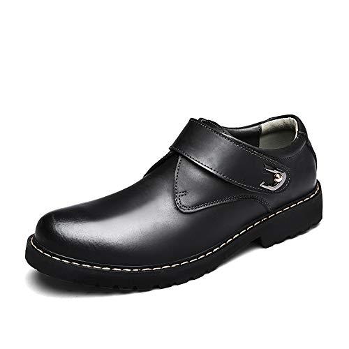 Bleu Taille Pour Chaussures Ouvert shoes color Véritable 2018 38 Noir Bout Formelles Dundun En Rond Eu À Hommes Cuir Hg6vxpq