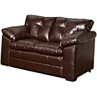 Simmons Upholstery 6569-02 Sebring Coffeebean Bonded Leather Loveseat