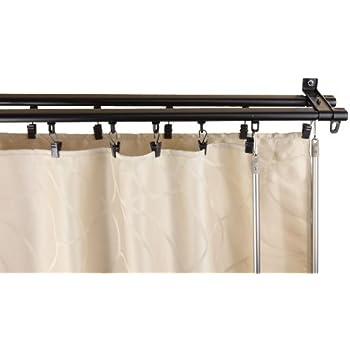 Amazon Com New White Double Curtain Track Kit 10 Ft
