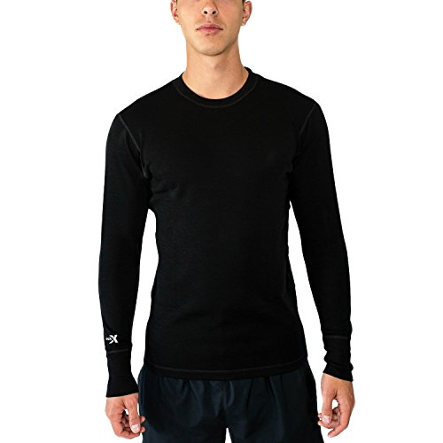 Woolx Explorer - Men's Midweight Merino Wool Baselayer Top - 100% Merino Wool Crew