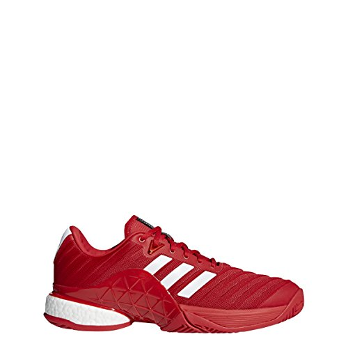 (adidas Men's Barricade 2018 Boost Real Coral/White/Real Coral 13 D US)