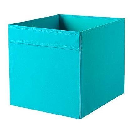 Caja de almacenamiento Ikea Dröṇa, azul (turquesa), 33 x 38
