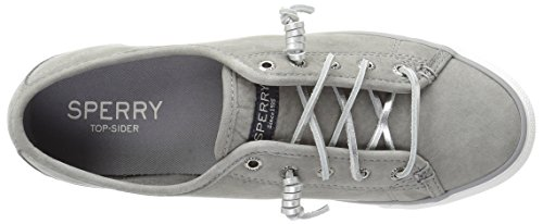 Sperry Top-sider Womens Seacoast Wash Pelle Moda Sneaker Grigio
