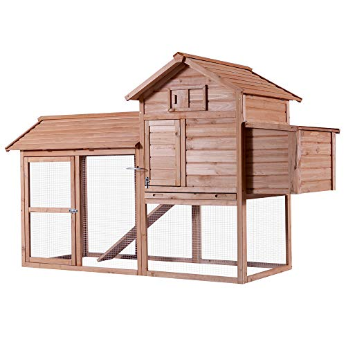 (Lovupet Deluxe Wooden Chicken Rabbit Poultry Coop Hen House Pet Cage with Run 0310)