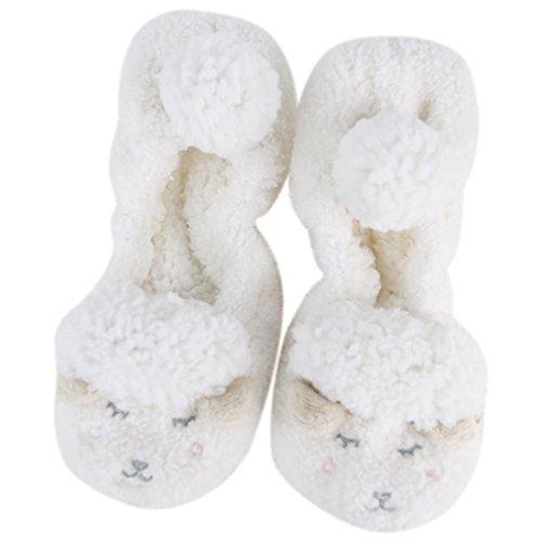 Calze Da Donna Inverno Caldo Termico Foderato Con Fodera In Maglia Sfilata Calze Da Vacanza Con Pinze Z Bianche Pecore