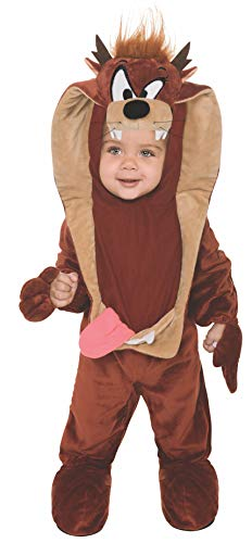 Rubie's Looney Tunes Taz Romper Costume, Brown, 12-18 -