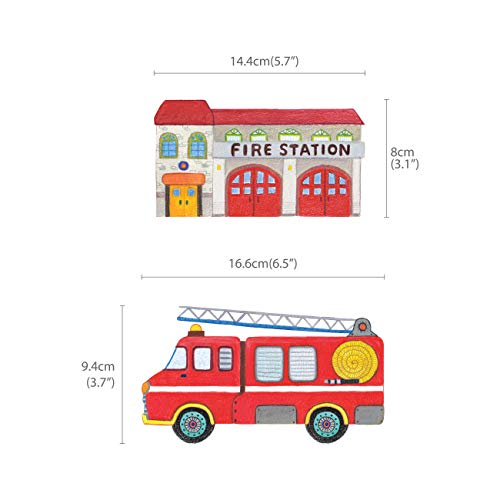 Decowall DAT-1404P1405 The Road and Transports Kids Wall Decals Wall Stickers Peel and Stick Removable Wall Stickers for Kids Nursery Bedroom Living Room by Decowall (Image #5)