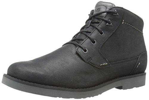 Teva Men's Durban Leather Chukka Boot, Black, 8.5 M US -  1008302-BLK