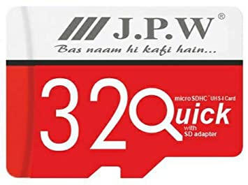 JPW Select Quick 32 GB Class 10 MicroSDXC Memory Card  Flash   32