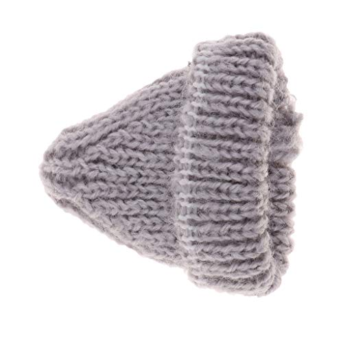 SM SunniMix Lovely Hand Knitted Gray Beanie Hat