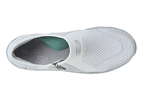 Bzees E3052G2100 Womens Balance Shoe, White Sport Mesh - 9W