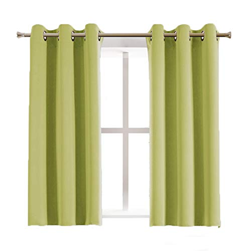Pair Discount Drapery - Aquazolax Thermal Insulated Blackout Curtains and Drapes Premium Quality Top Grommets Blackout Drapery Curtains for Kid's Room, 1 Pair, 42