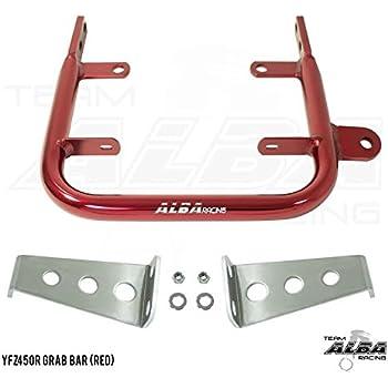 Yamaha YFZ 450  Grab Bar  Rear Bumper 04 thru 13  Alba Racing   Red  199 T5 R