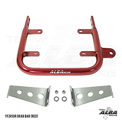 Yamaha YFZ 450R (2009-2017) and YFZ 450X (2010-2011) ATV Rear Grab Bar Bumper Silver Alba Racing