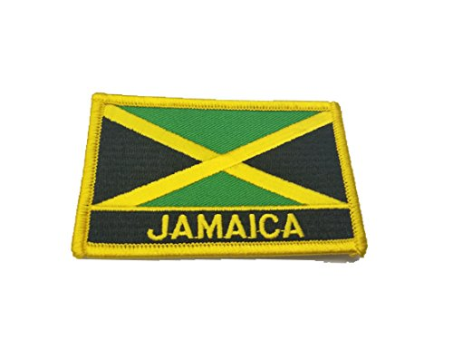 Jamaica Flag Embroidered Sew or Iron on Patch Badge Jamaican (Jamaica Flag Patch)
