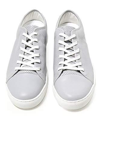 Chiaro polemica Pelle London Chiaro Uomo Sneaker Grigio Crime in Grigio qZpUxS