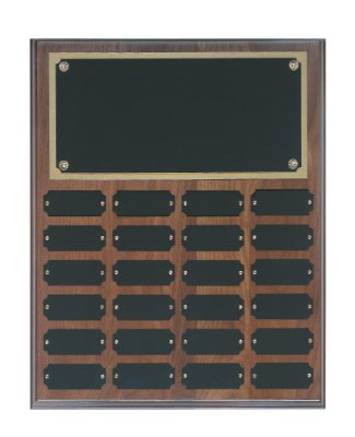 Genuine Walnut Perpetual Plaque - 24 Plate Perpetual Plaque 15
