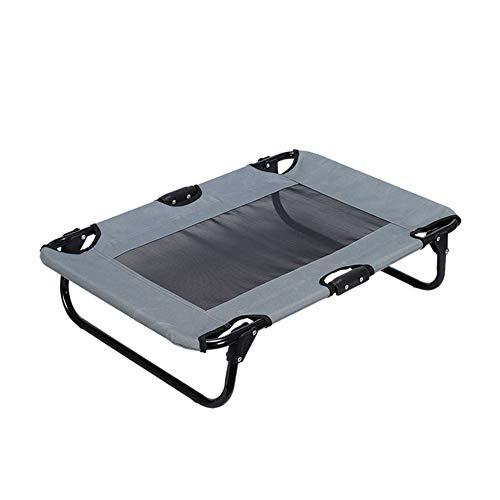 (YINING Pet Dog Bed,Wrought Iron/Four Seasons Folding/Breathable/Ventilation/Elevated Dog Bed Kennel)