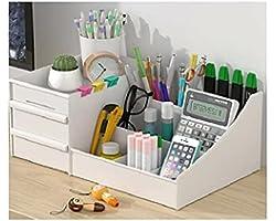 Organizador Mesa Multiuso Com Gavetas Porta Lápis Maquiagem