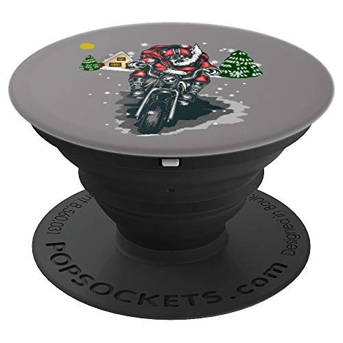 (CHRISTMAS BIKER RIDING CYCLE XMAS EVE STOCKING STUFFER - PopSockets Grip and Stand for Phones and Tablets)