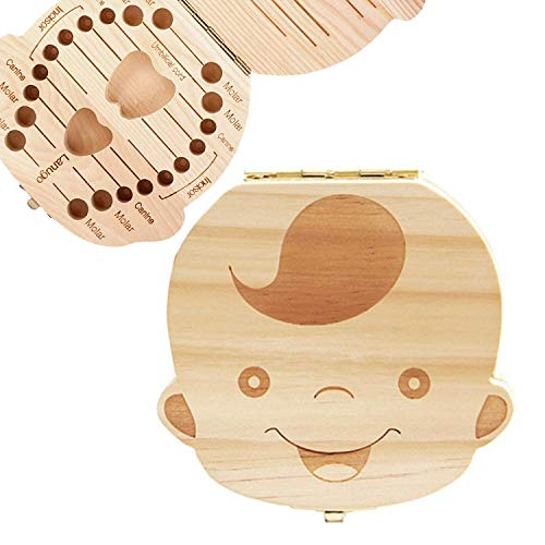 - Baby Tooth Box, Ladash Wooden Kids Tooth Holder Teeth Collection Box Special for Kids Keepsake,Teeth Storage Container (Boy)