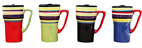 Striped Travel Mug (Set of 4)