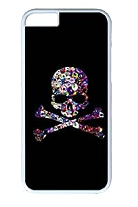 Color Skull Slim Soft Cover Case For HTC One M7 Cover PC White Cases