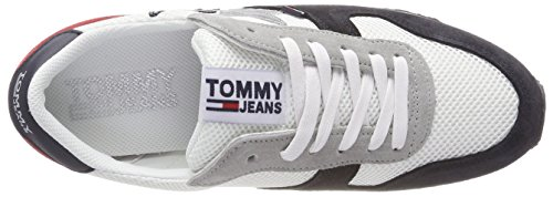 Tommy Jeans Women's Star Low-Top Sneakers, Silver Grey Multicolor (Rwb 020)