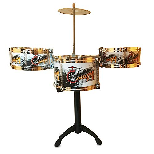LilPals' Child Prodigy Jazz Drum Set – Features Stand, 3 Drums, Cymbal & Drum Sticks