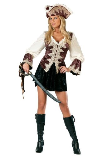 Fun World Women's Royal Lady Pirate Costume, Multi, (Pirates Costume For Ladies)