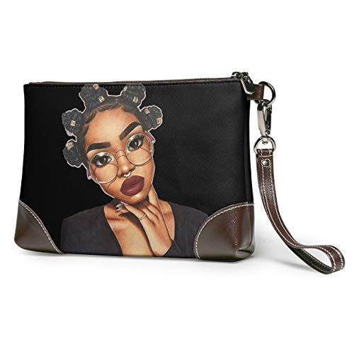 African Black Women Art Puyiyua Women Party Wedding Wallet Bag Leather Wristlet Everyday Clutch Handbag