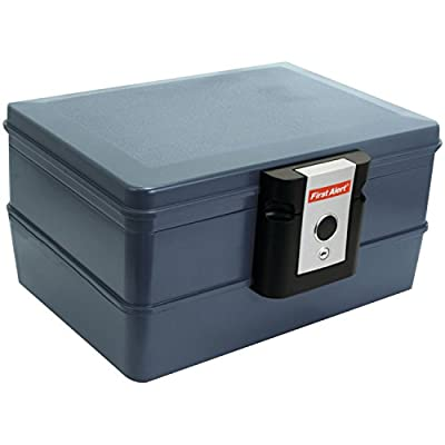 First Alert 2030F Fire and Water Safe, 0.39 Cubic Feet, Grey