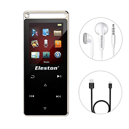 Eleston 8GB Touch Screen MP3 Player,HiFi Lossless Music Player Alloy Metal Body Support Expandable Micro SD Card to 64GB with One-Key Voice Recorder/Video/Pedometer/FM Radio/Photo Viewer