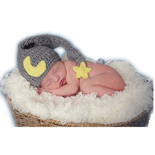 Fashion Newborn Boy Girl Baby Costume Knitted Photography Props Cute Hat Headdress ()