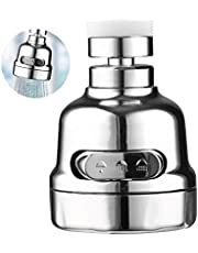 Upgraded 2020 Srmsvyd Movable Kitchen Faucet Head 360° Rotatable Faucet Sprayer Head Replacement Anti -Splash Tap Booster Shower and Water Saving Faucet for Kitchen