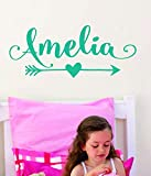 lovely love wall decals Arrow Name Decal for Girls or Boys - Custom Name Decal Nursery Tribal Wall Decal with Arrow