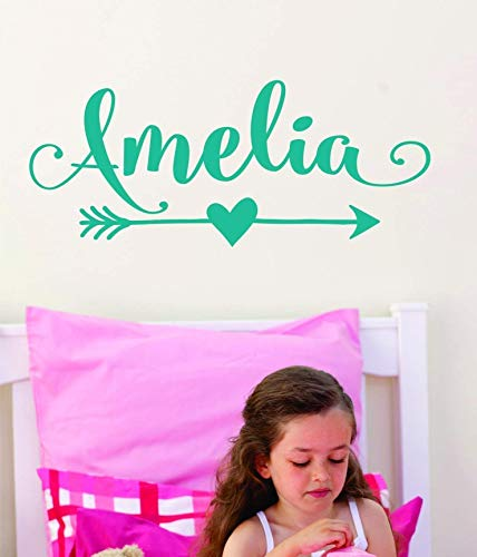 (Arrow Name Decal for Girls or Boys - Custom Name Decal Nursery Tribal Wall Decal with Arrow)