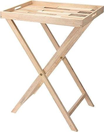 Stehtablett Frühstückstablett Tablett Betttablett Holz Serviertablett in weiß