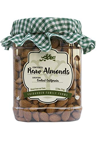 Steam Pasteurized Almonds Direct From Our Farm-- 2.2 LB Resealable Jar