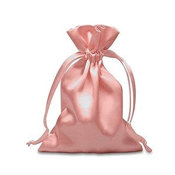 Amazon.com: Rosa claro bolsas de satén 3