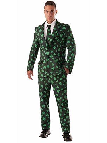 Forum Novelties Men's Shamrock Suit and Tie Xl Costume, Green, X-Large -