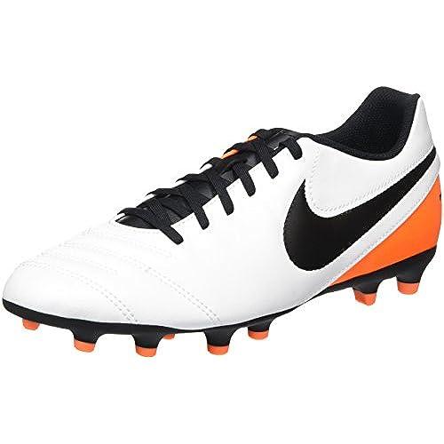 1ad0c684075 Nike Men s Tiempo Rio III FG (White Black Total Orange) (9 ...