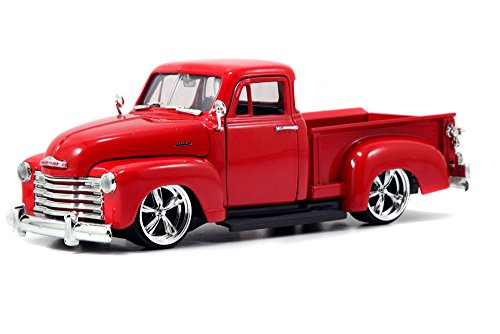 1953 Chevy Pickup Truck, Red - Jada Toys Bigtime Kustoms 50117 - 1/24 scale Diecast Model Toy Car (Brand New, but NO BOX) (53 Chevy Truck Model compare prices)
