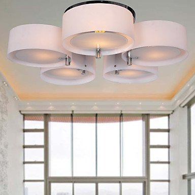 LOCO Modern Acrylic Chandelier with 5 lights Flush Mount Ceiling ...