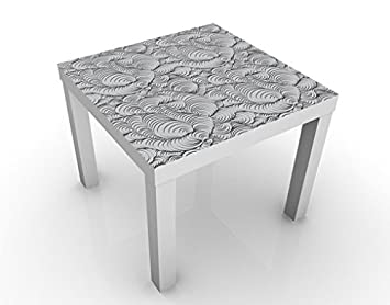 design table organic design pattern 55x55x45cm table colour white rh amazon co uk