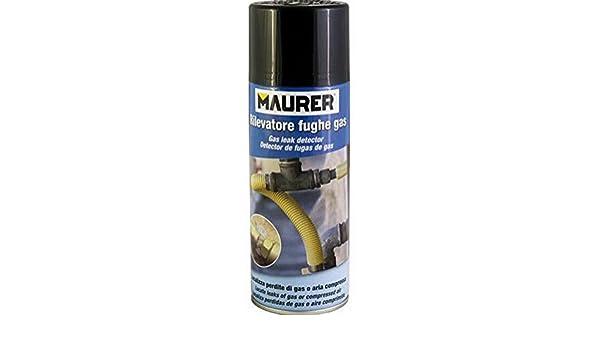 Spray Detector Juntas y fugas de gas Maurer 400 gr Detector rileva metano 96091: Amazon.es: Bricolaje y herramientas