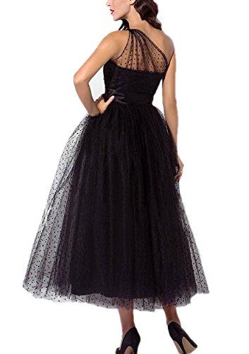 efd1ffa326c Home Brands Zhongde Dresses Zhongde Women s Little Black 50s 60s 80s  Vintage Prom Dress Evening Cocktail Gown One Shoulder Size 16.   