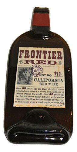 Fess Parker Frontier Red Melted Wine Bottle Serving Tray