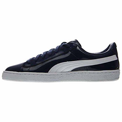 PUMA Men's Basket Matte und Glanz Fashion Sneaker Blau